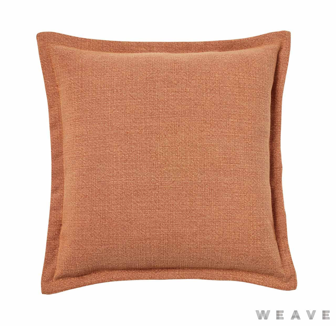 Weave - Austin Cushion - Tangerine (Pack of 2)  | Cusion Fabric - Plain, Weave