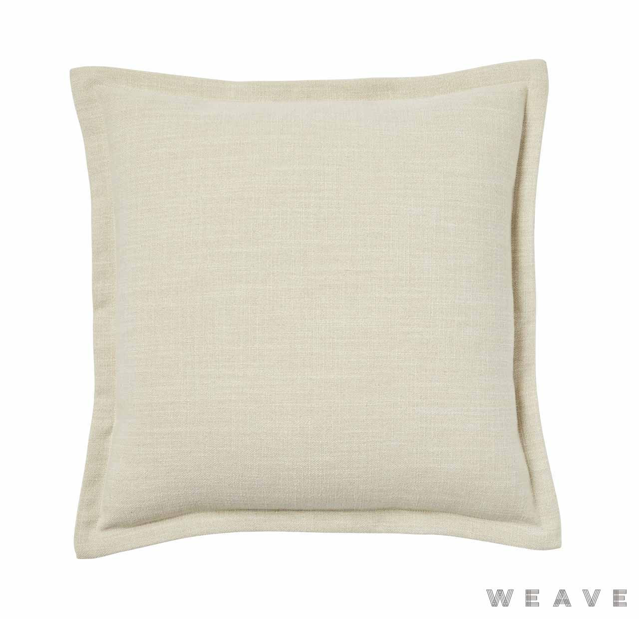 Weave - Austin Cushion - Sand (Pack of 2)  | Cusion Fabric - Beige, Plain, White, Weave, White