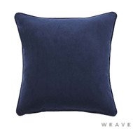Weave - Zoe Cushion - Ink (Pack of 2)  | Cusion Fabric - Blue, Plain, Weave