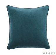 Weave - Zoe Cushion - Mallard (Pack of 2)  | Cusion Fabric - Blue, Plain, Weave