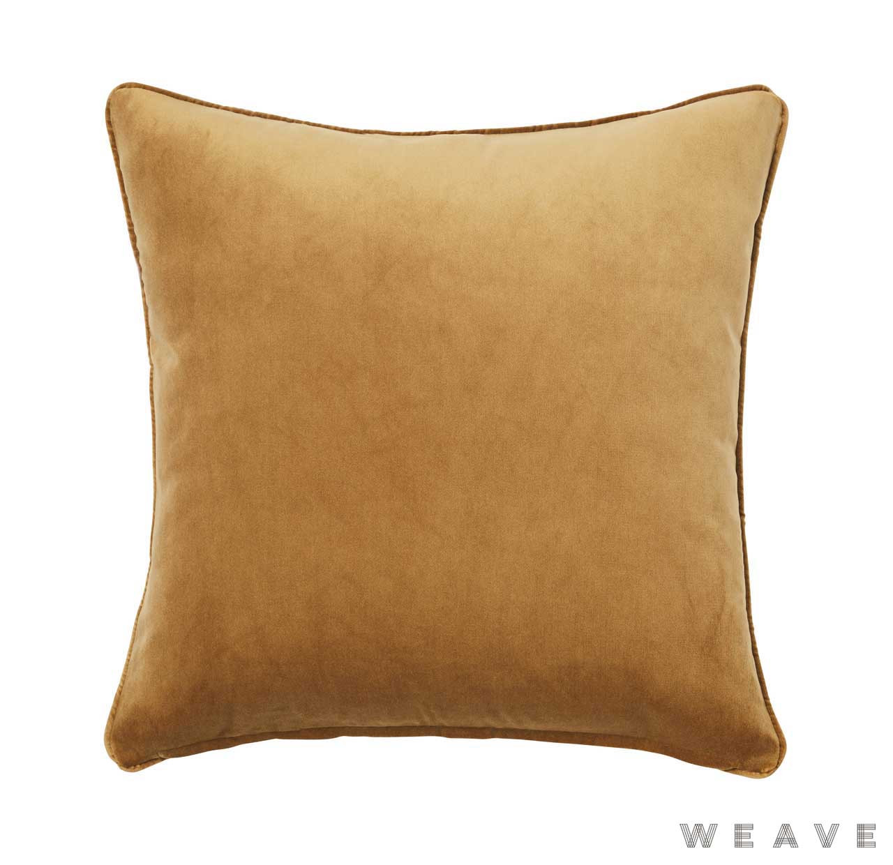Weave - Zoe Cushion - Brass (Pack of 2)  | Cusion Fabric - Gold,  Yellow, Plain, Traditional, Weave