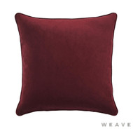 Weave - Zoe Cushion - Beetroot (Pack of 2)  | Cusion Fabric - Plain, Red, Traditional, Weave
