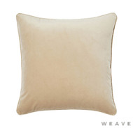 Weave - Zoe Cushion - Barley (Pack of 2)  | Cusion Fabric - Beige, Gold,  Yellow, Plain, Traditional, Weave