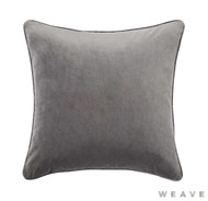 Weave - Zoe Cushion - Flint (Pack of 2)  | Cusion Fabric - Grey, Plain, Tan, Taupe, Traditional, Weave