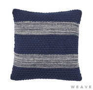 Weave - Devonport Cushion - Pigment (Pack of 2)  | Cusion Fabric - Blue, Stripe, Weave