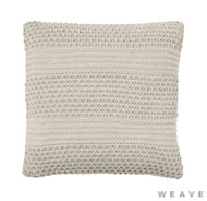 Weave - Devonport Cushion - Sandstorm (Pack of 2)  | Cusion Fabric - Beige, Stripe, Weave