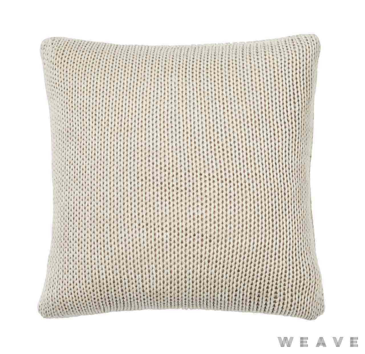 Weave - Monterey Cushion - Sandstorm (Pack of 2)  | Cusion Fabric - Beige, Weave