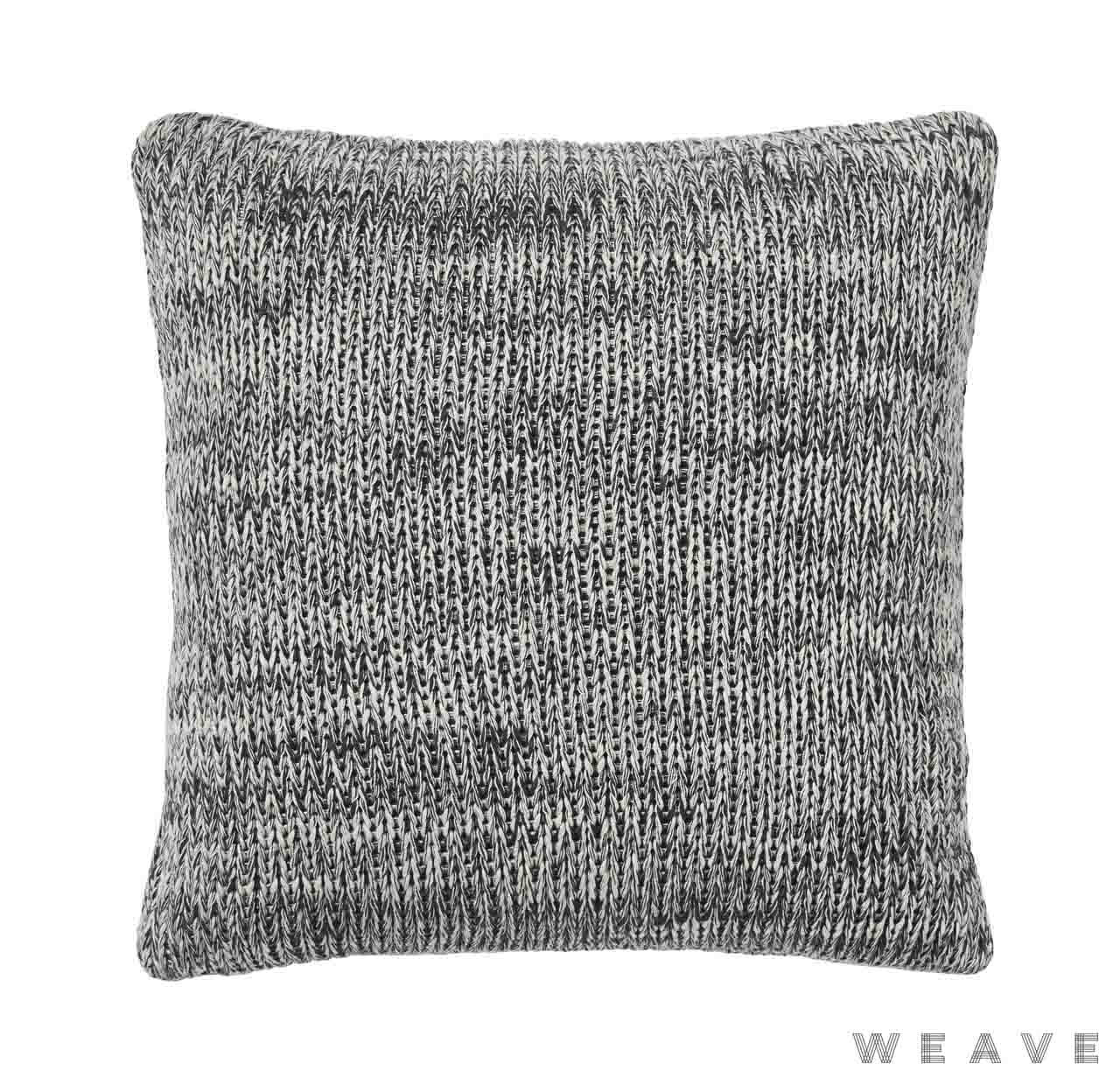 Weave - Monterey Cushion - Tar (Pack of 2)  | Cusion Fabric - Black - Charcoal, Weave