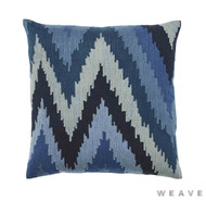 Weave - Haru Cushion - Pigment (Pack of 2)  | Cusion Fabric - Blue, Mediterranean, Weave, Flame Stitch