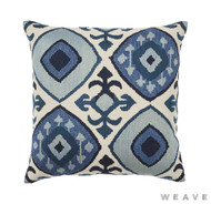 Weave - Kazu Cushion - Pigment (Pack of 2)  | Cusion Fabric - Blue, Ikat, Mediterranean, Weave