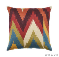 Weave - Cassia Cushion - Sumac (Pack of 2)  | Cusion Fabric - Blue, Red, Multi-Coloured, Mediterranean, Weave, Chevron, Zig Zag, Flame Stitch