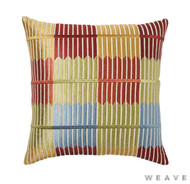 Weave - Baharat Cushion - Sumac (Pack of 2)  | Cusion Fabric - Blue, Check, Multi-Coloured, Weave
