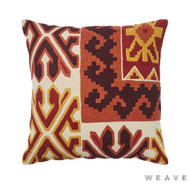 Weave - Kokam Cushion - Sumac (Pack of 2)  | Cusion Fabric - Gold,  Yellow, Kilim, Multi-Coloured, Mediterranean, Weave