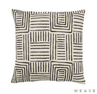 Weave - Congo Cushion - Tar (Pack of 2)  | Cusion Fabric - Basketweave, Black - Charcoal, Geometric, Weave