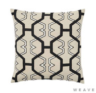 Weave - Zulu Cushion - Tar (Pack of 2)  | Cusion Fabric - Beige, Honeycomb, Mediterranean, Weave, Lattice, Trellis