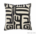 Weave - Lesotho Cushion - Tar (Pack of 2)  | Cusion Fabric - Black - Charcoal, Contemporary, Weave