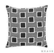 Weave - Burundi Cushion - Tar (Pack of 2)  | Cusion Fabric - Black - Charcoal, Geometric, Weave