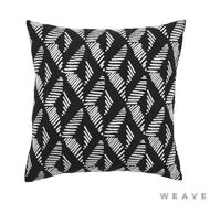 Weave - Lagos Cushion - Tar (Pack of 2)  | Cusion Fabric - Black - Charcoal, Stripe, Weave, Chevron, Zig Zag