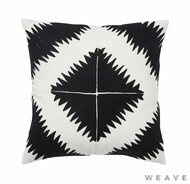 Weave - Ghana Cushion - Tar (Pack of 2)  | Cusion Fabric - Black - Charcoal, Weave