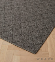 Weave - Mitre Rug - Basalt  | Rug Fabric - Brown, Plain, Weave, Diamond - Harlequin