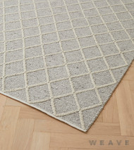 Weave - Mitre Rug - Feather  | Rug Fabric - Beige, Grey, Weave