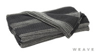Weave - Devonport Throw - Tar  | Throw Fabric - Black - Charcoal, Stripe, Weave