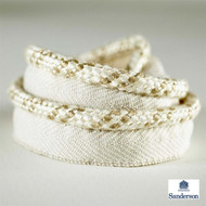 232264 'Cord' | Flange Cord, Trim - White, Fiber blend, Traditional, Washable, White, Domestic Use