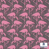 Sanderson Flamingos 214567  | Wallpaper, Wallcovering - Fire Retardant, Eclectic, Midcentury, Pink, Purple, Animals, Animals - Fauna, Domestic Use, Print