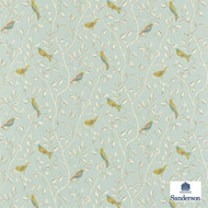 DOPNFI203 'DOPNFI203' | Curtain & Upholstery fabric - Blue, Fire Retardant, Green, Farmhouse, Floral, Garden, Natural fibre, Many-Coloured, Animals, Domestic Use, Natural