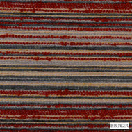 B. Berger - 71062-9 - Red    Upholstery Fabric - Burgundy, Fire Retardant, Red, Silver, Terracotta, Stripe, Synthetic, Backing, Commercial Use, Dry Clean, Backing