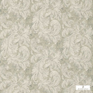 Zoffany Pietra Damask 322332  | Curtain & Upholstery fabric - White, Art Noveau, Damask, Fiber blend, Floral, Garden, Traditional, Commercial Use, Domestic Use, White