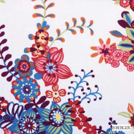 B. Berger - 72081-224 - Berry  | Curtain & Upholstery fabric - Burgundy, Red, Silver, Floral, Garden, Natural Fibre, Pink, Purple, Dry Clean, Natural, Print, Standard Width