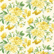321435 '' | Curtain & Upholstery fabric - Fire Retardant, Gold - Yellow, Farmhouse, Floral, Garden, Natural fibre, Many-Coloured, Domestic Use, Natural, Suitable for Blinds