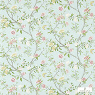Zoffany Nostell Priory 311421  | Wallpaper, Wallcovering - Blue, Fire Retardant, Green, Farmhouse, Floral, Garden, Many-Coloured, Domestic Use