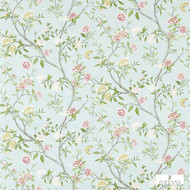 Zoffany Nostell Priory 311421  | Wallpaper, Wallcovering - Blue, Fire Retardant, Green, Farmhouse, Floral, Garden, Multi-Coloured, Domestic Use