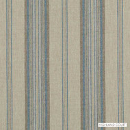 Highland Court - 190228H-11 - Steinbeck - Turquoise  | Upholstery Fabric - Beige, Blue, Gold,  Yellow, Silver, Linen and Linen Look, Natural Fibre, Stripe, Tan, Taupe