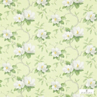 321446 'Magnolia' | Curtain & Upholstery fabric - Fire Retardant, Green, Farmhouse, Floral, Garden, Natural fibre, Many-Coloured, Domestic Use, Natural, Suitable for Blinds
