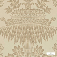 Zoffany Long Gallery ZCDW08001  | Wallpaper, Wallcovering - Beige, Fire Retardant, Art Noveau, Craftsman, Damask, Floral, Garden, Tan, Taupe, Traditional, Domestic Use