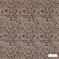 331902 '' | Curtain & Upholstery fabric - Fire Retardant, Craftsman, Damask, Natural fibre, Traditional, Washable, Pink - Purple, Domestic Use, Natural, FR Treatable