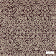 Zoffany Edensor 331902  | Curtain & Upholstery fabric - Fire Retardant, Craftsman, Damask, Natural fibre, Pink, Purple, Traditional, Washable, Domestic Use, FR Treatable, Natural