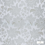331914 '' | Curtain Fabric - Fire Retardant, White, Craftsman, Damask, Floral, Garden, Synthetic fibre, Traditional, Washable, White, Domestic Use, Suitable for Blinds