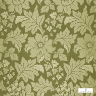 Zoffany Constantina 331917  | Curtain Fabric - Fire Retardant, Green, Craftsman, Damask, Floral, Garden, Synthetic fibre, Traditional, Washable, Domestic Use