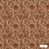 321690 '' | Curtain & Upholstery fabric - Fire Retardant, Terracotta, Craftsman, Damask, Fiber blend, Floral, Garden, Jacobean, Traditional, Commercial Use, Domestic Use