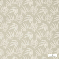 Zoffany Kernow 322339  | Curtain & Upholstery fabric - Fire Retardant, Grey, White, Floral, Garden, Natural fibre, White, Commercial Use, Domestic Use, Natural, FR Treatable