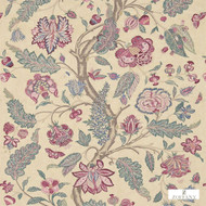 311741 '' | - Fire Retardant, Floral, Garden, Jacobean, Traditional, Many-Coloured, Pink - Purple, Domestic Use