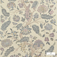 321699 '' | Curtain & Upholstery fabric - Blue, Fire Retardant, Fiber blend, Floral, Garden, Jacobean, Traditional, Domestic Use, Suitable for Blinds