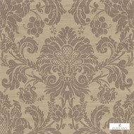 Zoffany Crivelli ZCDW02014  | Wallpaper, Wallcovering - Brown, Fire Retardant, Damask, Traditional, Commercial Use, Domestic Use