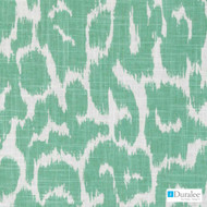 Duralee - Se42529-125 - Tommye - Jade  | Curtain & Upholstery fabric - Fire Retardant, Fibre Blends, Linen and Linen Look, Midcentury, Turquoise, Teal, Dry Clean, Print