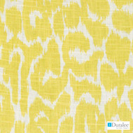 Duralee - Se42529-610 - Tommye - Buttercup  | Curtain & Upholstery fabric - Fire Retardant, Gold,  Yellow, Fibre Blends, Linen and Linen Look, Midcentury, Dry Clean, Print