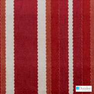 Duralee - Sv16130-685 - Red/Clay  | Upholstery Fabric - Fire Retardant, Red, Stripe, Synthetic, Traditional, Velvet/Faux Velvet, Backing, Dry Clean, Backing, Standard Width